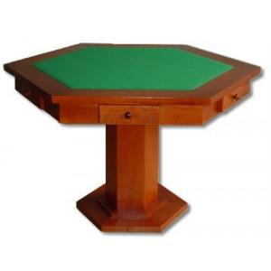 Mesa de Carteado Laminada com Gavetas - 1,10 x 1,10 m - Sextavada - Cód. 306.003