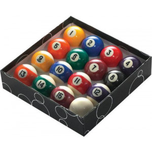 Bolas de Sinuca / Bilhar / Snooker - Numeradas com Faixas - Apex - Cód. 1518-15