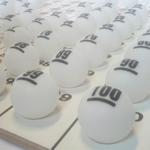 Kit De Bolinhas de Ping Pong para Bingo - 01 a 75 -  Esportes Express - Cód. PONG75-1