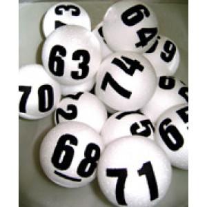 Kit De Bolinhas de Isopor para Bingo - Numeradas 02 Faces de 01 a 75 -  Esportes Express - Cód. ISO75-2