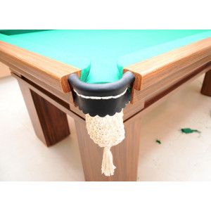 Caçapa Completa Especial (Branca) / Raspa de Couro - Bilhar / Snooker - Cód. 10.180