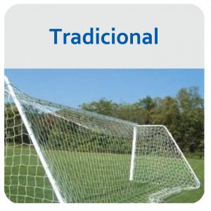 Rede de Futebol de Campo Tradicional - Fio 6mm Mix - Master Rede - Cód. FC6-PX