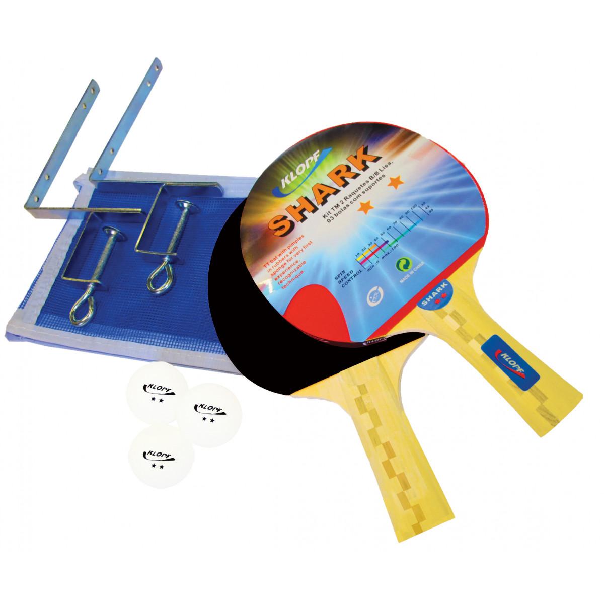 Kit Completo de Tênis de Mesa   Ping pong - Luxo - Klopf - Cód. 5031 ... 1f522bb61af26