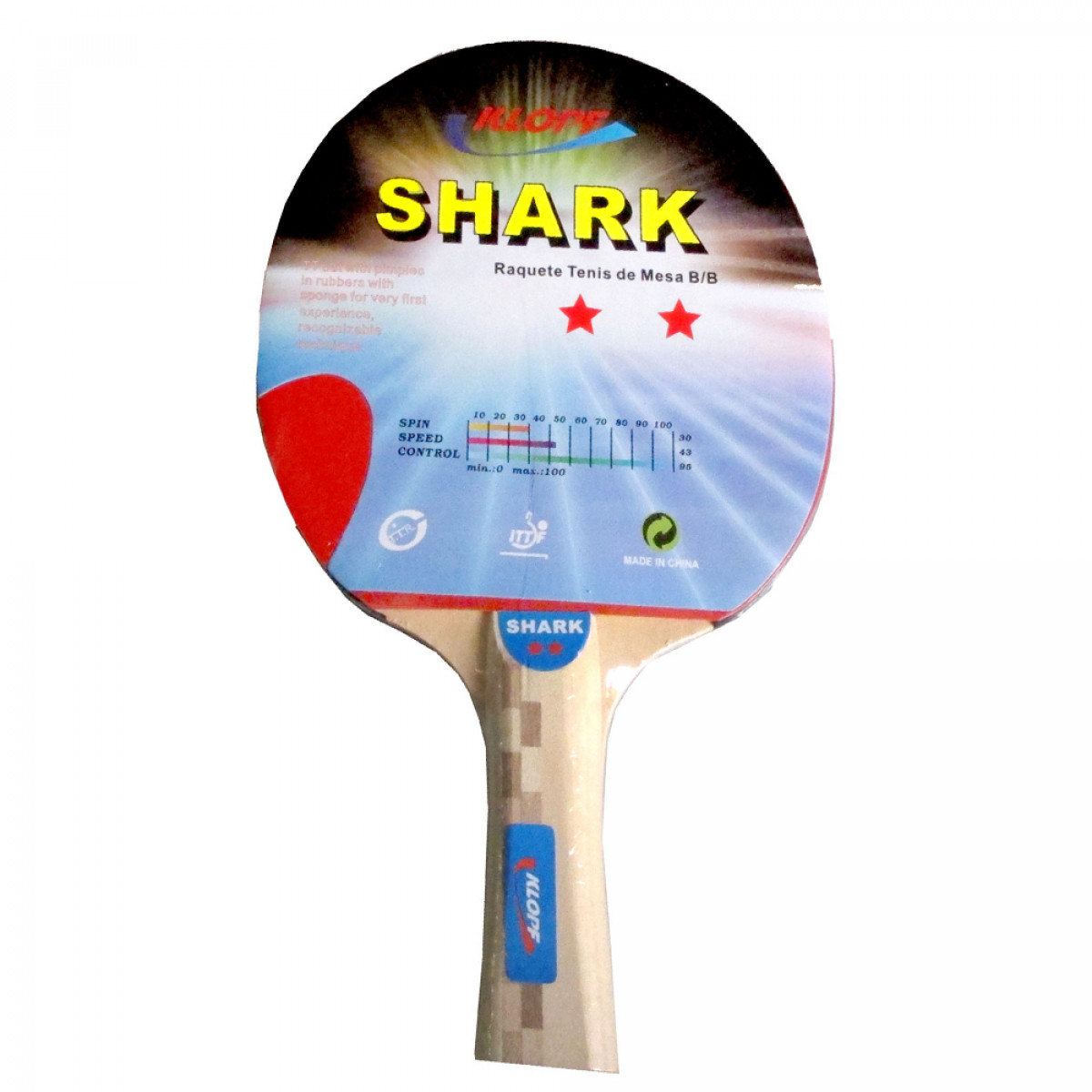 Raquete de Tênis de Mesa   Ping Pong - Lisa Luxo - Klopf - Cód. 5015 ... 91d25ac0f88cf