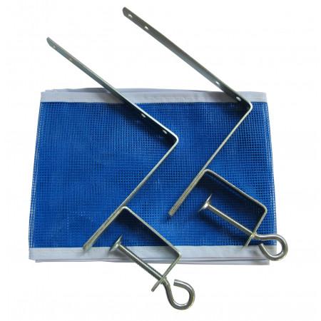 Kit de Tênis de Mesa / Ping Pong - 02 Suportes + 01 Rede - Klopf - Cód. 5070