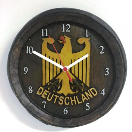 Relógio Artesanal Em Gesso - Escudo Da Alemanha Deutschland