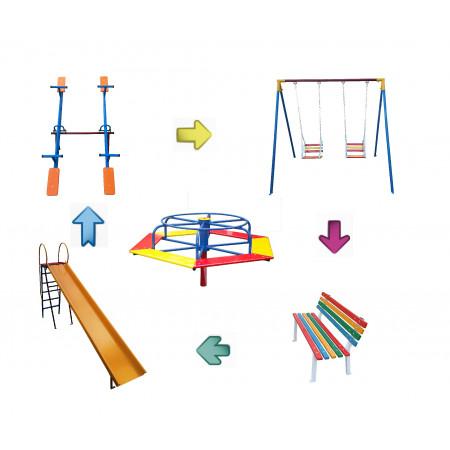Kit Playground / Parquinho Infantil Curitiba - EE - Cód. 1555