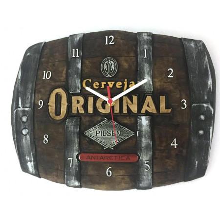 Relógio Artesanal Em Gesso - Cerveja Original