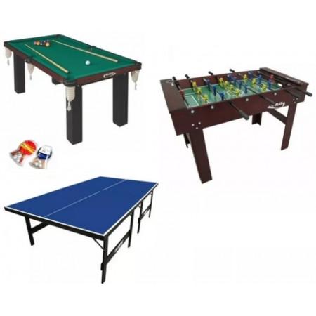 Salão De Jogos com Pebolim, Mesa de Sinuca e Ping Pong - Cód. 1560