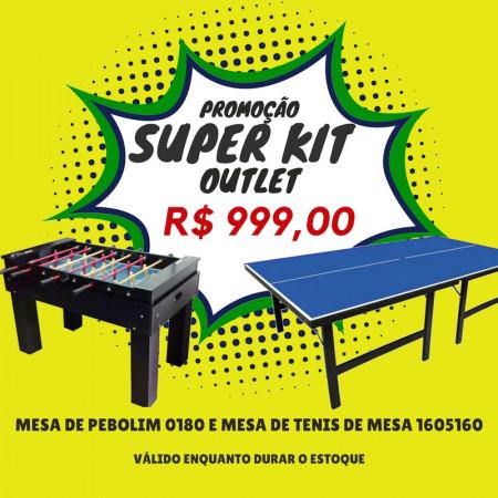 Super Kit Oultet - Mesa De Pebolim + Mesa De Ping Pong - Cód. 01801001