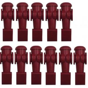 11 Bonecos Vermelhos Para Mesa De Pebolim Klopf - Cód. 2041v