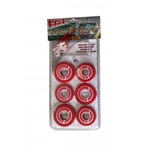 Jogo de Futebol de Botão - Blister - Cores - Cód. 4092 - Vermelho e branco