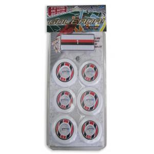 Jogo de Futebol de Botão - Blister - Cores - Cód. 4097 - Branco e vermelho