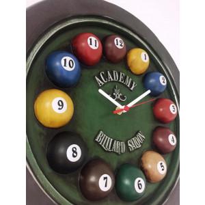 Relógio Artesanal Em Gesso - Academy Billiard Sallon