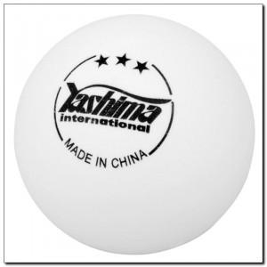 Blister com 6 Bolinhas de Tênis de Mesa / Ping Pong Competition 3 Estrelas - Branca 40mm - YAshima - Cód. 31003