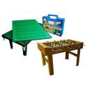Salão de Jogos Quadriplex - Pebolim + Sinuca + Ping Pong + Futebol De Botão - Jogos de Mesa - Klopf - Cód. 1503