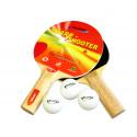 Kit de Tênis de Mesa / Ping Pong - 02 Raquetes + 03 Bolinhas - Klopf - Cód. 5052