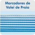 Marcação de Quadra para Vôlei de Praia ou Campo com Fixadores - Master Rede - Cód. CV-GP