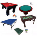 Kit para Salão de Jogos Premium - Pebolim + Sinuca + Ping Pong + Futebol De Botão + Carteado - Klopf - Cód. 1561