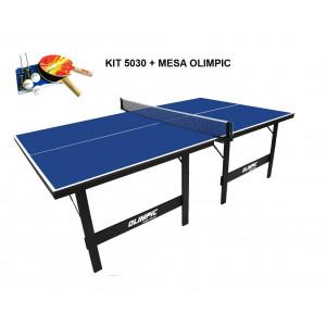 Mesa de Tênis de Mesa / Ping Pong com Kit Completo - Olimpic - MDP 15mm - Klopf - Cód. 1005