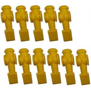 11 Bonecos Amarelos Para Mesa De Pebolim Klopf - Cód. 2041a