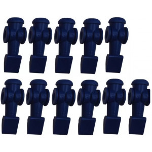 11 Bonecos Azuis Para Mesa De Pebolim Klopf - Cód. 2041azul