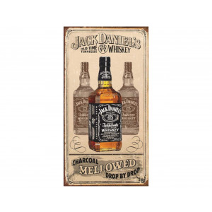 Placa Decorativa Retrô Jack Daniels Mellowed - Rossi - Cód. 3010
