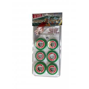 Jogo de Futebol de Botão - Blister - Cores - Cód. 4098 - Verde e vermelho