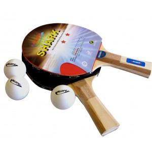 Kit Tênis De Mesa / Ping Pong Luxo - 02 Raquete + 03 Bolinhas - Klopf - Cód. 5055