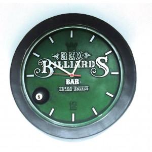 Relógio Artesanal Em Gesso - Billiards Bola 8
