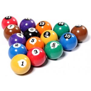 Jogo de Bolas de Sinuca Numerada / Bilhar / Snooker - 54mm - Unibol - Cód. 54.07