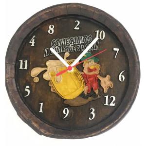 Relógio Artesanal Em Gesso - Começamos A Qualquer Hora