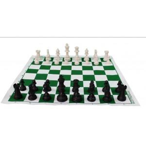 Conjunto Para Jogo de Xadrez Oficial, Tabuleiro + Peças + Sacolinha Cód. 040