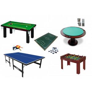 Kit para Salão de Jogos Standard - Pebolim, Sinuca, Ping Pong, Futebol De Botão e Carteado - Klopf - Cód. 1559