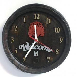 Relógio Artesanal Em Gesso - Corre Ao Contrário - Welcome